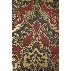 Cole & Son Wallpaper Aldwych Damask Wallpaper (£99) ❤ liked on Polyvore featuring home, home decor, wallpaper, backgrounds, cole son wallpaper, damask wallpaper, damask home decor and glitter wallpaper