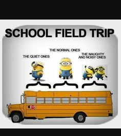 It always ends up like this on a school bus