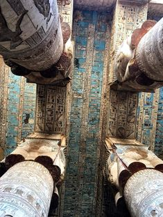 Ceiling of the Temple of Hathor The ceiling of the... - Egypt Museum Egyptian Temple, Ancient Egyptian Art, Ancient Aliens, Ancient History, European History, Ancient Greece, American History, Ancient Rome, Art History