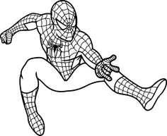 spiderman coloring pages free | Spiderman Coloring Pages For Kids Printable