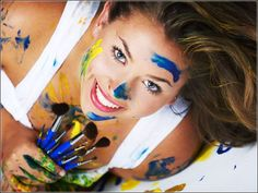 Senior Picture Ideas For Girls | senior picture ideas for girls - Google Search | I would do this except maybe with icing instead of paint