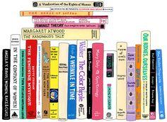 Ideal Bookshelf 974: Feminists by Jane Mount on 20x200. #books