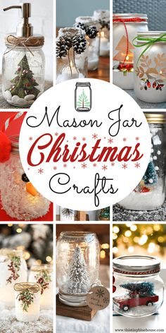 Easy, simple and most of all budget friendly - these 15 easy mason jar Christmas craft ideas are a great addition to your festive holiday decor. jar Crafts 15 BEST Easy Mason Jar Christmas Craft Ideas - This Tiny Blue House Mason Jar Christmas Crafts, Christmas Crafts For Kids, Jar Crafts, Bottle Crafts, Diy Christmas Gifts, Christmas Decorations, Holiday Decor, Kids Crafts, Blue Christmas