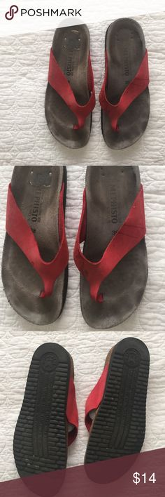 79d94d8420a8e7 Red Mephisto's Red worn/shows sign of wear and marks- No trades, PayPal, or  holds. Comment for any additional questions! Thank you Mephisto Shoes  Sandals