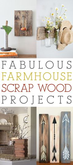 Hi guys! If you are a Crafter or a Woodworker you always seem to have tons of scrap wood and hopefully you save it because today we have a Collection of Fabulous Farmhouse Scrap Wood Projects! The all come with spot-on tutorials from our wonderful Bl Wood Projects That Sell, Wood Projects For Beginners, Small Woodworking Projects, Popular Woodworking, Diy Woodworking, Woodworking Classes, Woodworking Furniture, Woodworking Quotes, Easy Small Wood Projects