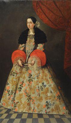 Madame de Pompadour (Portrait of a Spanish lady, end of century) 17th Century Clothing, 17th Century Fashion, 17th Century Art, Spanish Woman, Spanish Art, Spanish Ladies, Historical Costume, Historical Clothing, Baroque Fashion