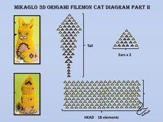 02. 3D Origami Cat Tutorial End.