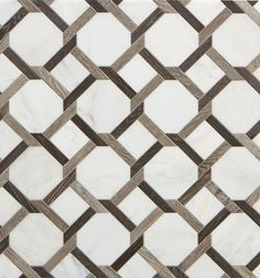 Walker Zanger Sterling Row Collection tile -a combination of porcelain tile and marble in tones of gray, white and black, Floor Patterns, Tile Patterns, Textures Patterns, Floor Design, Tile Design, Marble Floor, Tile Floor, Marble Price, Trellis Pattern
