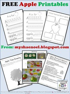 Free Apple Printables
