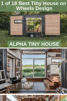 1 of 18 Best Tiny House on Wheels Design Alpha Tiny House, Best Tiny House, Tiny House Trailer, Tiny House On Wheels, Timbercraft Tiny Homes, Steel Cladding, Tumbleweed Tiny Homes, Building A Tiny House, Tiny House Design