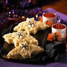Rice Crispie Treat bats! What A cute treat!