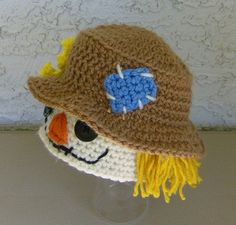Infant Scarecrow Hat Unisex Baby by CrochetHatsForYou on Etsy,