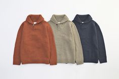 SHAWL COLLAR KNIT... PRICE : ¥23,000-(+TAX)