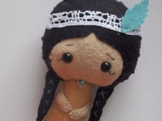 Im torn in between Alice In Wonderland or Native American Doll  Felt Doll  Small Doll  by PlatoSquirrel, $36.00
