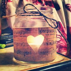 Music candle holder
