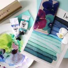 Tropical color inspiration - Watery blues and seafoam teal greens Colour  Schemes 3c4a1020a21