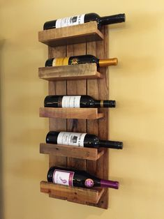 Wine rack made from pallet boards