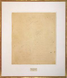 Erased de Kooning Drawing by Robert Rauschenberg 1953 MInimalism