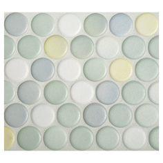 Penny Round Mosaic | Citrus Blend Anti-slip Matte | Complete Tile Collection
