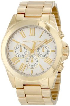 Juicy Couture Women`s 1900901 Stella Gold Plated Bracelet Watch $210.88