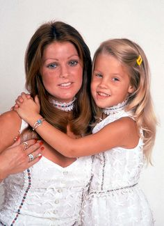 """Priscilla Presley and Lisa Marie Presley  Priscilla before her """"make over"""".  She was just gorgeous, I do not understand."""
