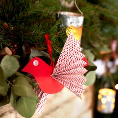 Paper bird decoration