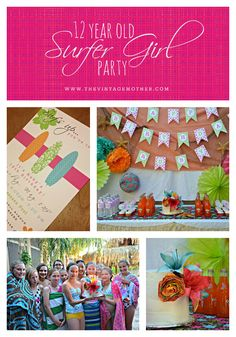 surfer girl birthday party | SURFER GIRL PARTY {Birthday Week} | The Vintage Mother