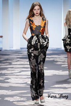 #runway #fashion #catwalk #prints #floral #style #womensstyle #womensfashion #womensoutfits #verawang