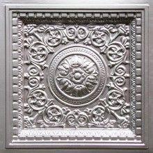"""Decorative Tin Tiles Impressive Jitterbug  Faux Tin Ceiling Tile  24""""x24""""  #115  Faux Tin Design Decoration"""