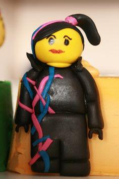 How to Make Lego Movie Wyldstyle Figurine Cake Topper • CakeJournal.com