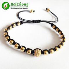 Anil Arjandas Famous Brand Women Bracelets Braided 4mm Stainless Steel Beads Bracelet For Men Free Shipping BD0191