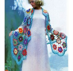 Vintage #crochet #shawl pattern for purchase