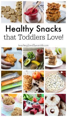 Great list of snacks that toddlers love! Also good food ideas for preschoolers or older kids who are picky eaters.