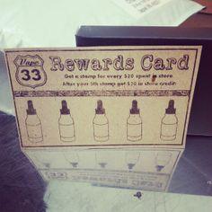 New Reward Card for our local Vape33 friends.  #vape #eliquid #vapor #ecigs #vapelife #vapeon www.vape33.com