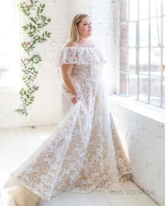I am in love with our new design😍 Amazing Lara gown by Lasabina Plus Size Bri. by Plus Size Bridal Denmark Girls, Am In Love, Plus Size Wedding, More Photos, News Design, Plus Size Dresses, September, Gowns, Bride