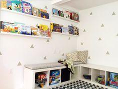 IKEA Hack - The KALLAX bookshelf makes a great reading nook for the kids   Mum's Grapevine
