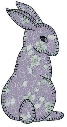 1000 images about bunny applique patterns on pinterest for Bunny rabbit templates free