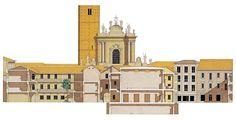Edificio Pubblico In Piazza Garibaldi, Treviglio. Giorgio Grassi