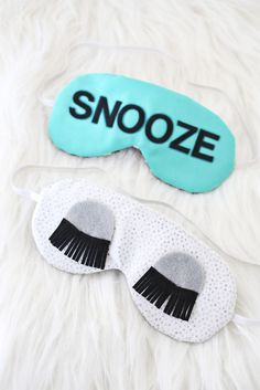 DIY eye mask // ok this is just adorable!