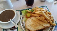 Patty melt and fries, gravy on the side, Oak Point Restaurant  |  533 Oak Point Hwy, Winnipeg, M