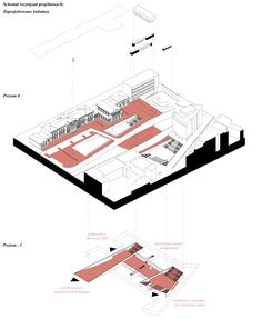 urban development - public space in the front of a main railway station.  competition project, 2017