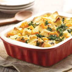 Looking for a savory dish to add to your holiday dinner? Try our bread pudding with butternut squash and kale.