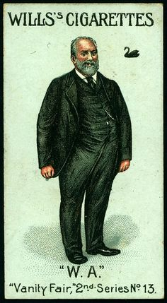 "Cigarette Card - Sir John Forrest. ""Vanity Fair 2nd Series""."
