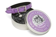 Cheshire & Wain Purple Leather Cat Collar