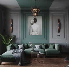 Home Decor Furniture, Home Decor Bedroom, Living Room Decor, Classic Interior, Home Interior Design, Design Your Dream House, House Design, Built In Around Fireplace, Living Room Panelling