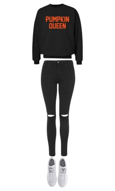"""""""HALLOWEEN AHHHH!!"""" by emmalish ❤ liked on Polyvore featuring Topshop, CO and adidas"""