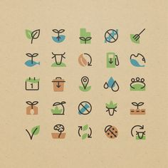 simple iconography can convey a message in a stylish way Icon Design, Web Design, Logo Design, Icons Web, Food Icons, Vector Icons, Sustainable Food, Sustainable Design, Sustainable Architecture