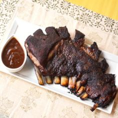 The men in my family love lamb and the women want to run. I saw lamb ribs made on an episode of Diners, Drive-in & Dives and have tried to make it a few times. It is not hard but to find the … Barbecue Recipes, Grilling Recipes, Bbq, Cooking Recipes, Barbecue Smoker, Smoker Recipes, Healthy Recipes, Smoked Brisket, Smoked Ribs