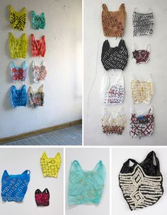embroidered plastic bags by josh blackwell