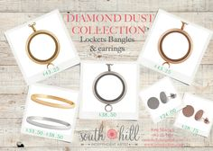 New Diamond Dust Collection! South Hill Designs, Dust Collection, New Product, Bangles, Collections, Personalized Items, Diamond, Artist, Earrings